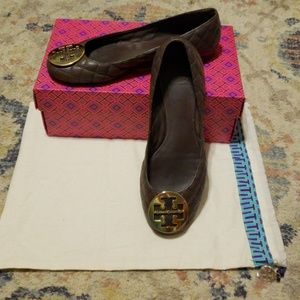 💥Tory Burch Quinn Quilted Leather Flats | Sz 9💥